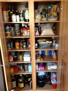 You could eat out of this pantry without being poisoned. No more canned goods from 2003!
