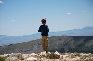 Joe taking a pause on Mt. Sherman