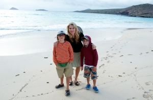 On Floreana Island in the Galapagos with the monkeys I'm not totally certain belong to me
