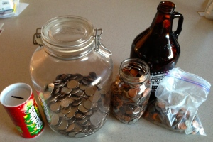 Years' worth of small change can really add up!