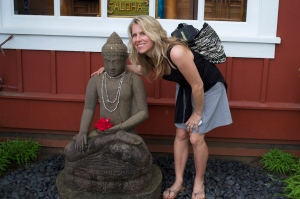 Chilling with my yoga pal Buddha