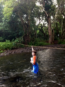 Luke crosses the stream
