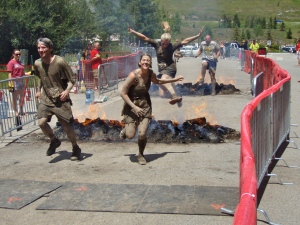 That's me...jumping over fire at the Warrior Dash (which for me was really more of a warrior partial jog)