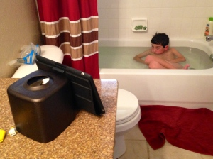Shouldn't every boy's bathroom come with a portable television?