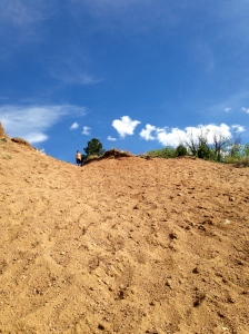 Joe at the top of his hill