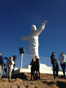 Cristo Blanco watching over Cusco