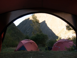 A tent with a view
