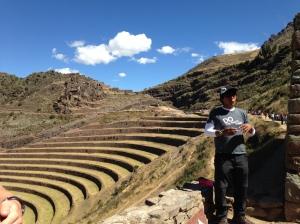 Ray explaining the Inca terraces