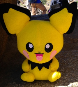 Pichu...because nothing says ancient ruins like a plush toy from China.