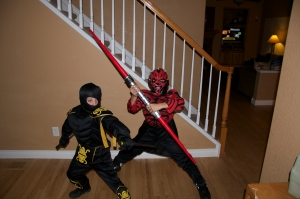 Who would win? A ninja or Darth Maul? Discuss amongst yourselves.