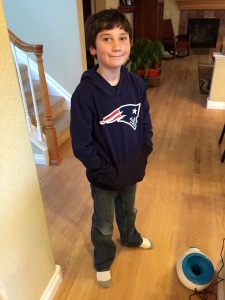 He has the smug look of a Patriots fan down pat.