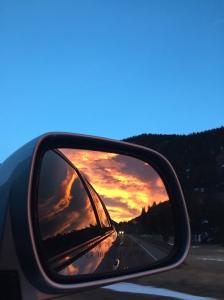 A typical Colorado ski morning sunrise