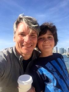 Happy boys visiting San Diego