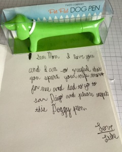 """""""Please except this doggy pen."""" Best thank you note ever."""