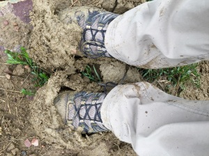 Mud is the equivalent of ankle weights, right?