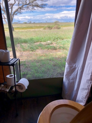 Commode with a view